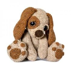Moss the Puppy dog amigurumi pattern by Patchwork Moose (Kate E Hancock)