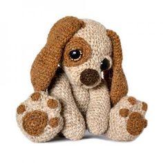 Musgo del perro Cachorro patrón de crochet amigurumi Por Patchwork Moose (Kate E Hancock)