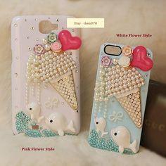 Dolphin Love Ice Cream DIY Phone Case Deco Den Kit & Free iPhone Case