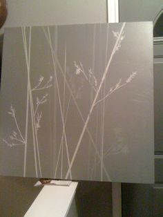 DIY art--I really like this idea. Would be real easy to do with dry grasses in the fall. Paint canvas white first, lay on grasses then paint color choice