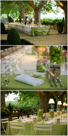 Limes lemons green apples are beautiful center peices Tablescape ● Outdoor Entertaining