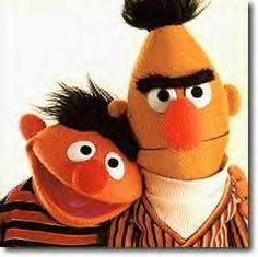 Ernest et bart!! la rue Sésame...