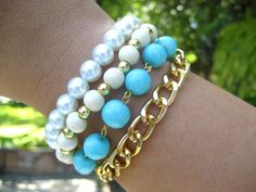 Love it!....Layered Bracelet by augustroseshop on etsy