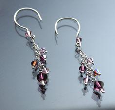 Swarovski Crystal Earrings Dangles Sterling Silver by STBridal