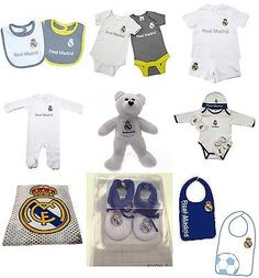 Real Madrid C F Bassic Logo Cool Baby Onesie Romper Jumpsuit Newborn Baby Clothes