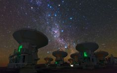 Photo Ambassador Babak Tafreshi snapped this remarkable image of the antennas of the Atacama Large Millimeter/submillimeter Array (ALMA), set against the splendour of the Milky Way. This view shows the constellations of Carina (The Keel) and Vela (The Sails). The bright orange star in the upper left is Suhail in Vela, while the similarly orange star in the upper middle is Avior, in Carina.
