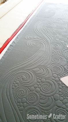 Beautiful free motion quilting