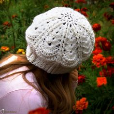CROCHET PATTERN No. The Abby crochet beret pattern (Toddler, Child and Adult sizes) PDF pattern hat, spring beret pattern, pattern hat Crochet Simple, Easy Crochet Hat, Crochet Cap, Crochet Motifs, Crochet Hooks, Crochet Beanie, Crochet Patterns, Hat Patterns, Front Post Double Crochet