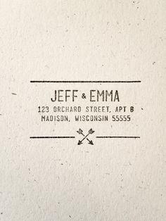 Arrow Wedding - Stamp - Name. Return Address. Hipster. Modern. Simple. Southwestern. Tribal Pattern.