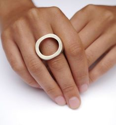 Two-Hole Ring by Julie Decubber