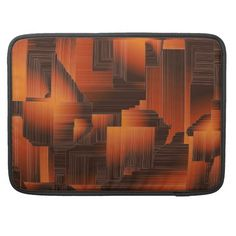 Rust Art Deco Sleeve For MacBook Pro