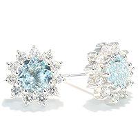 Nuvolo - klassisk og vakker rosettørepynt med topas - Nuvola Diamantørepynt