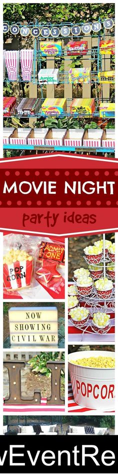 Grab your popcorn and enjoy a great outdoor movie party!