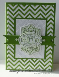 Gumball Green Chevron and Chalk Talk Card by Independent Stampin' Up! Demonstrator Traci Cornelius of www.getcreativewithtraci.co.uk