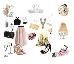 """""""Wedding outfit #1 or #2?"""" by hugmyheart on Polyvore featuring Bling Jewelry, Riedel, Herend, Lladró, Chicwish, BCBGMAXAZRIA, Valentino, Love Moschino, STELLA McCARTNEY and Stella & Dot"""