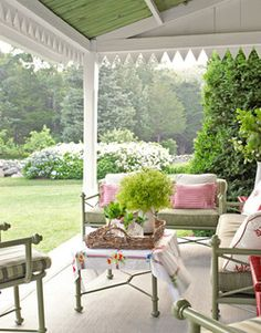 Covered Patio.  Love the edging!