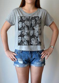 One Direction 1D  women's crop top T Shirt cropped by sodachicshop, $14.99