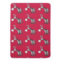 Funny Zebra Baby Blanket #zebras #baby #blanket #gifts And www.zazzle.com/tickleyouorfunnybone*