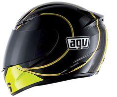 AGV K3 Gothic Helmet Black/White/Yellow