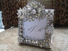 Sparkling Vintage Rhinestone Jewelry Picture Frame