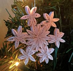 Ornament, Decoration, Snowflake, Quilled Paper, Quilling, Christmas, Holiday, Gift, 1st Anniversary, Handmade, Unique, Art, Hostess, Thank by EssentiallyPaperShop on Etsy