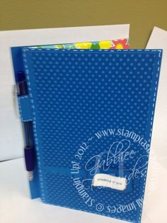 Stampin Up! Jr. Legal Pad Cover with Pen
