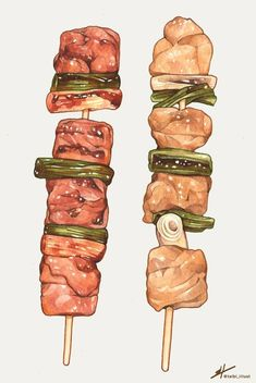 While everyone can eat, not everyone has the skills necessary to cook. Cute Food, A Food, Food And Drink, Yummy Food, Food Art Painting, Food Sketch, Food Cartoon, Food Stickers, Watercolor Food
