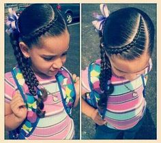 Kids hairstyles mixed chicks braids school hair