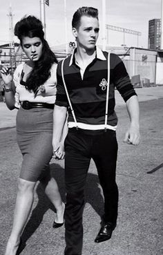 #Hot retro couple. Old school style. #classiccouple #rockabilly  www.juntoslubricants.com