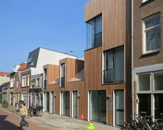 Wooden Houses in Amsterdam by M3H Architecten