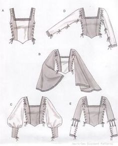 Laced Renaissance Medieval  Costume Bodice PATTERN