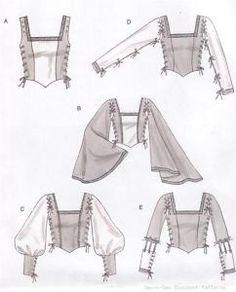 Laced Renaissance Medieval  Costume Bodice PATTERN