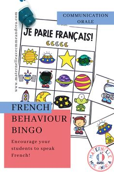 Looking for a fun Behavior Bingo, Sticker Chart, Bingo Board, French Immersion, How To Speak French, Calling Cards, France, Teacher Pay Teachers, No Time For Me