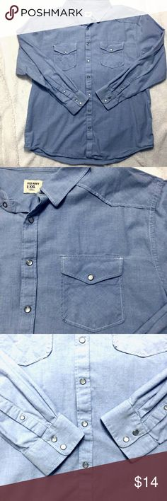 6a6f89725ba2b Old Navy Western Pearl Snap Shirt This is a light blue Perl snap shirt. It