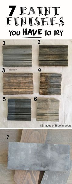 7 Paint Finishes You HAVE to Try- how to to achieve these weathered, gray finishes using 3 basic techniques. - 7 Paint Finishes You Have to Try + Haven Recap - Shades of Blue Interiors Furniture Projects, Furniture Makeover, Wood Projects, Furniture Design, Wood Furniture, Furniture Stores, Paint Techniques Furniture, Rustic Painted Furniture, Chalk Paint Techniques