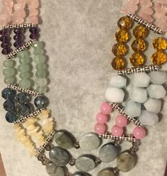Global-style Multi-strand River Bead Necklace