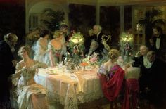 The End Of Dinner Painting by Jules Alexandre Grun - The End Of Dinner Fine Art Prints and Posters for Sale