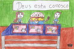 """O desenho alimenta a imaginação e o  """"McDia Feliz"""" alimenta o sonhos dos inscritos do Instituto Politriz. Peanuts Comics, Art, Dreams, Happy, Dibujo, Art Background, Kunst, Performing Arts, Art Education Resources"""