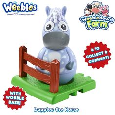 Wibbly wobbly Weebledown Farm charcter. Figure 8 cm high approx.