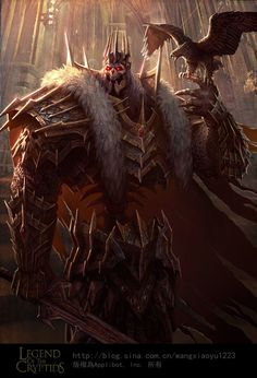 Artist: Wang Xiaoyu aka wangxiaoyu - Title: Unknown - Card: Outraged Skeleton King (Sharp)