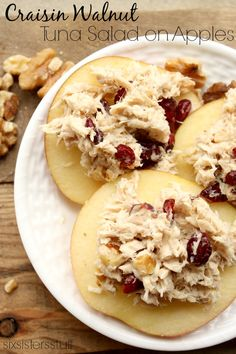 Craisin Walnut Tuna Salad on Apples is my new go to. It's so easy and so delicious!