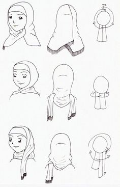 Three Hijab Style Reference by ~Muslim-Women on deviantART