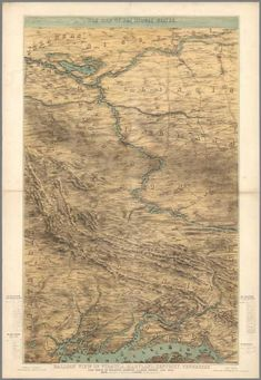David Rumsey Historical Map Collection | War Map of the Middle States : Balloon View of Virginia, Maryland, Kentucky, Tennessee and parts of Arkansas, Missouri, Illinois, Indiana and Ohio. 1861
