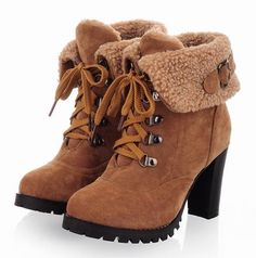 winter boots 2013 New hot sale Fashion Women Ankle Boots High Heels Lace up Snow Boots Platform Pumps shoe