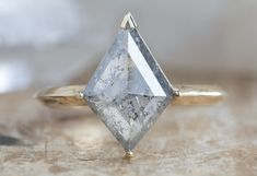 Antique Engagement Rings, Designer Engagement Rings, Alternative Wedding Rings, Velvet Ring Box, Salt And Pepper Diamond, Engraved Rings, Engraving Services, Kite, Ring Designs
