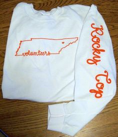 Good Ole Rocky Top *Reminder: shirts are sized small so please order one size larger than normal. Shirts are printed to order, please allow at least 3 business days for printing and processing before shipping. Ut Shirts, Game Day Shirts, Monogram Shirts, Vinyl Shirts, Football Shirts, Tennessee Football, University Of Tennessee, Tennessee Vols Shirts, Tennessee Volunteers Football