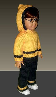 Ravelry: Doll clothes knitting pattern. Fits American Girl Doll.18 inch pattern by Jo MacKinnon