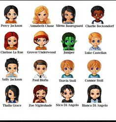 Characters from Percy Jackson series