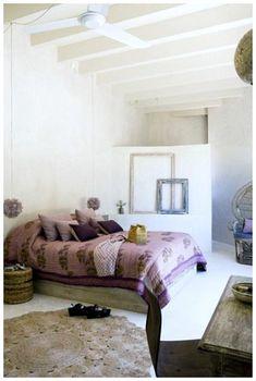 Cozy Bohemian House in Formentera, Spain Bohemian House, Boho, Indian Style Bedrooms, Modern Bedroom Design, Ikea Kitchen, Cool House Designs, Bedroom Decor, Bedroom Ideas, Interior Design