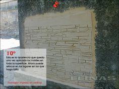 Aplicación de moldes en vertical. Moldes para hormigón impreso. La tienda de Comercial Llinás. http://tienda.comerciallinas.com/Hormigon-impreso